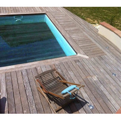 mini piscine polyester fond mobile